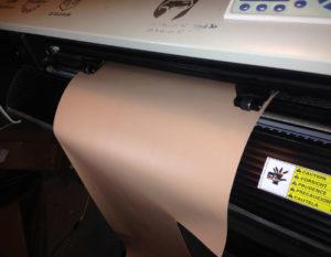 Vinyl Cutter Modification to Prevent Vinyl or Sandmask Jam