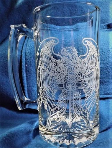 Dremel Etchings On Mugs Of Eagles Amp Celtic Cross