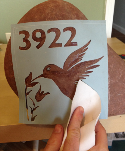 How to Sandblast Stone Signs with Address Numbers & Graphics